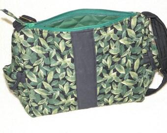 Leafy Handmade Purse with Adjustable Shoulder Strap