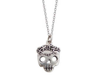 Flower Crowns for Everyone Skull Necklace