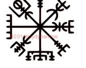 Vegvísir Vinyl Decal Sticker viking icelandic rune