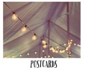 Postcards - Card - Blank Cards - Fine Art Photograph - Light - Party - Celebrate - Tent - Fair - Carnvial - String Lights - Grand Illusions