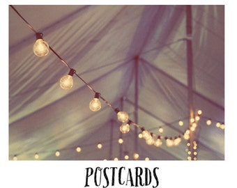 Postcards - Card - Blank Cards - Fine Art Photography - Stationary - Party - Celebrate - Tent - Carnvial - String Lights - Grand Illusions
