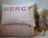 Custom Pillow,Personalized Pillow,Custom Name Pillow, Girl,Nursery Decor, Christian Art, Baby Shower, Hand-Embroidered, Scripture