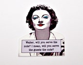 NORA CHARLES Myrna Loy Serve the Nuts Noir Quote Pin
