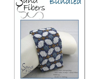 Peyote Pattern - Bundled Peyote Cuff / Bracelet  - A Sand Fibers For Personal/Commercial Use PDF Pattern
