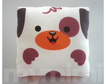 Toy Puppy, Puppy Pillow, Stuffed Animal, Throw Pillow, Cushion, Kawaii, Baby Shower, Nursery, Kids Room Decor, Dorm, Stuffed Toy, 7 x 7""