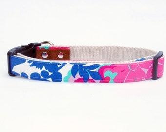 Eco-Friendly Dog Collar.  Lilly Pulitzer Secret Garden. Adjustable Sizing.