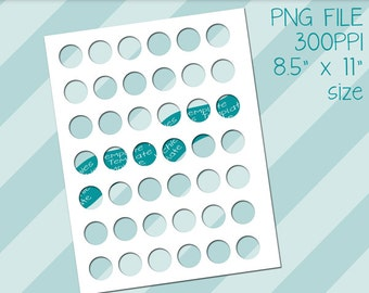 Photoshop PNG Inchies Template, Photoshop Templates, One Inch Circles, Inchies Templates, Instant Download, Templates