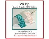 Peyote Bracelet Pattern ... SCALLOP ... Seashell . Beachcomber . Ocean . Scallop Shell . Two Color . Three Drop Peyote . PDF Tutorial