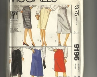 McCall's Misses' Skirts Pattern 9196