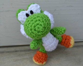 Free Yoshi Egg Crochet Pattern : Items similar to Crochet YOSHI Amigurumi on Etsy