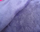 "Double Sided Solid Pastel Purple Minky Fleece 60"" Wide By the yard"