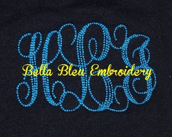 Custom Embroidered Monogrammed Monogram Sweatshirt 2XL to 4XL