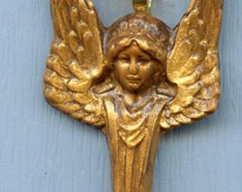 Polymer Faux Golden  Art Nouveau Angel Ornament   GAO 2