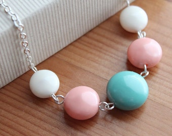 Renee Necklace & Earrings - Sterling Silver - Swarovski Coin Pearls