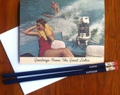 Greetings From the Great Lakes Card - Blank Inside