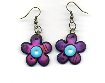 Earrings of polymer clay