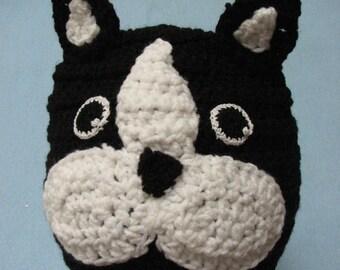 Crochet Pattern - Hat Pattern - Boston Terrier Hat Pattern - Animal Hat - Dad Hat - Women's Hat - Boston Terrier - PDF - Digital Download