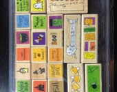 Studio G lot of 25 Halloween and Thanksgiving rubber stamps