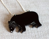 Bear Necklace laser cut outdoors nature engraved animal