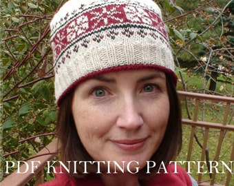 PDF KNITTING PATTERN - First Frost Cap