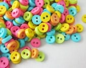 SALES 100 pcs Tiny 2 hole button - 6.5 mm. for making Barbie, Blythe and dolls clothes SET20