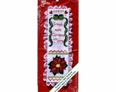 Friends Make Christmas Merry Bookmark Counted Cross Stitch Kit - New - Unopened