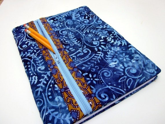 Book Cover Sewing Zipper ~ Composition book cover fabric w zipper pocket lined blank