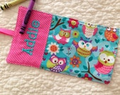 Owl Crayon Roll Personalized Wrap