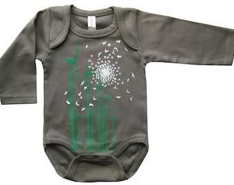 Hipster Baby Clothes, Baby Clothes, Baby Boy Clothes, Gender Neutral Baby Clothes, Baby Gifts, Windmill Baby Long sleeves Organic Onesie