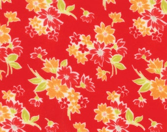 SALE - Miss Kate FLANNEL - Spring in Red: sku 55091-11F FLANNEL quilting fabric by Bonnie and Camille for Moda Fabrics - 1 yard