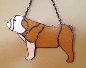 Bulldog Stained Glass Suncatcher