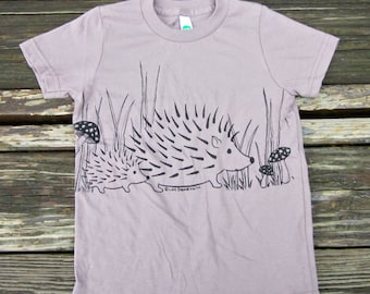 Hedgehog Unisex Organic Cotton Tee, Original Art