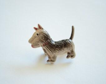 Vintage Enamel Scottish Terrier Brooch Small Pin