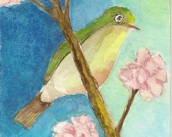 ACEO Original Watercolor Spring Time