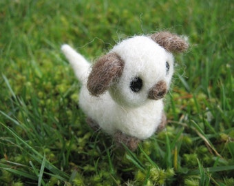 Needle Felted Miniature Dog Baily Animal Pet Figurine