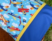 AIRPLANES, Travel/Toddler Pillowcase, toddler boys bedding