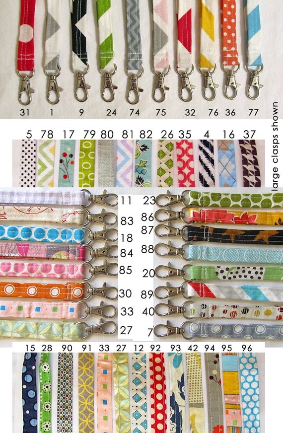 Wrist strap for matching pouch. key fob or key chain. Designer fabrics with swivel clip 100's of fabrics