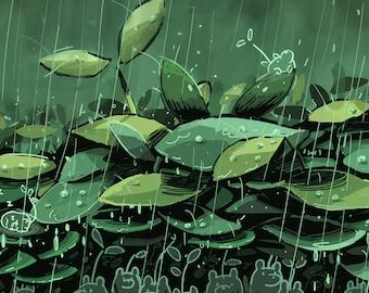 Spirit Bears Rainy Day Art Print