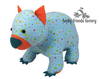 Wodger Wombat Plush Toy PDF Pattern INSTANT DOWNLOAD