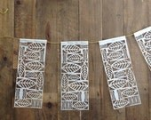 set of five sail cloth pennant flags