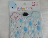 Cute raindrops stickers