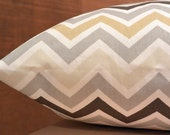 Add Personalization - DESIGNER Pet Bed Duvet Cover - Stuff with Pillows - YOU Choose Fabric - Zig Zag Chevron Zoom Zoom in River Rock shown