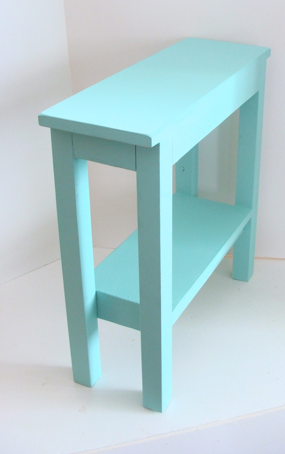 end table narrow side table painted furniture wood table