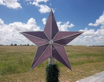 SALE Purple Christmas Tree Topper, Unique Hand Made Stained Glass Star Ten Inches Fifteen Dollars Off Stock must Go