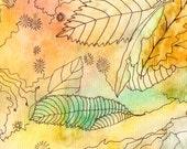 Autumn Leaves, Original watercolour painting, by melanie j cook
