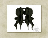 Rorschach Ink Blot Art print  no1