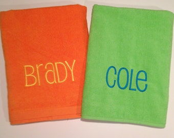 Monogrammed Personalized Beach Towel Bridal Party Gift Birthday Party Beach Swimming Christmas Gifts