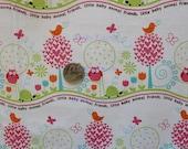 SALE Michael Miller Animal Friends Girl Fabric- Half Yard