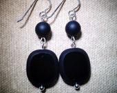Classic Black Dangle Earrings