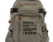 Backpack Film v. Bullet, Canvas Backpack, Rucksack, Travel Backpack, Camera Bag, Small Bag, Women & Men's Backpack